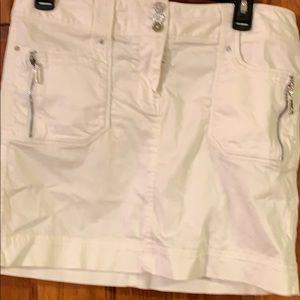White House Black Market women's white skirt 6